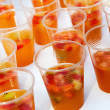 Refreshing sangria with fruits — Stock Photo