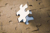 Last piece of jigsaw puzzle — Stock Photo
