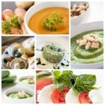 Vegetarian food collage — Stock Photo