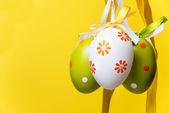 Tre uova di pasqua — Foto Stock