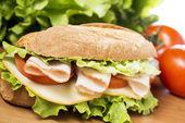 Chicken breast sandwich — Stock Photo