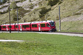 Swiss red train — Stock Photo