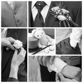 Groom collage — Stock Photo