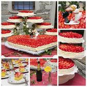 Wedding cake collage — Stock Photo