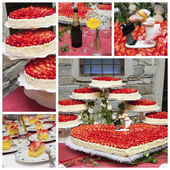 Wedding cake collage — Stock Photo