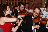 Violin concert — Stock Photo