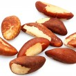 Nine fresh brazil nuts raw — Stockfoto