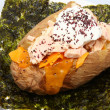 Abacore Tuna stuffed Baked Potato — Stock Photo