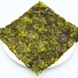 Large thin sheet of pressed seaweed - Stock Photo