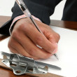 Male Hand Writing - Stock Photo