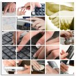 Business Hand Collage - Stock Photo