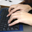 Typing Hands — Stock Photo