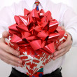 Red Bow Gift — Stock Photo