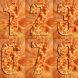 Close up Pizza Numbers - Stock Photo
