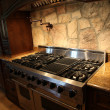 Tennesee Home Gas Stainless Steel Stove and Oven - Stok fotoğraf