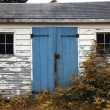Small Wooden Shack - Stock Photo