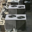 Stock Photo: Air Conditioner Heating Units