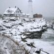 Portland Head Light Snow Storm — Stock Photo #12784572