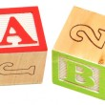 Alphabet Blocks BABY — Stock Photo