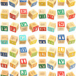 Stock Photo: Alphabet Blocks thru Z
