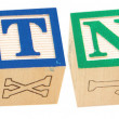 Alphabet Blocks BOTNET - Stock Photo