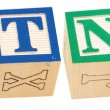 Alphabet Blocks BOTNET — Stock Photo