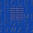 Abstract Binary Code Alphabet - Stock Photo