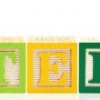 Stock Photo: Alphabet Blocks BUTTERFLY