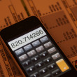 Touch screen calculator - Stock Photo