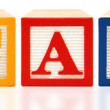 Stock Photo: Alphabet Blocks Education