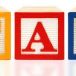 Alphabet Blocks Education — Stock Photo