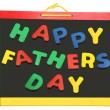 Happy Father's Day On Chalkboard — Foto Stock