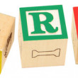 Alphabet Blocks GEOGRAPHY - Stock Photo