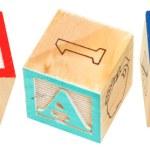 Alphabet Blocks GOALS — Stock Photo