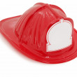 Plastic Toy Fire Fighter Hat - Stock Photo
