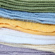 Wash Cloth Stack - Stock Photo