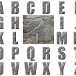 Natural Grey Stone Texture Alphabet - Stock Photo