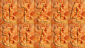 Close up Pizza Numbers — Stock Photo