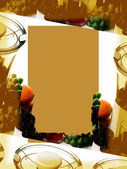 Food Themed Frame — Stock Photo