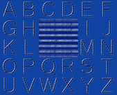 Abstract Binary Code Alphabet — Stock Photo