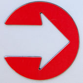 Metal Arrow Sign — Stock Photo