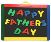 Happy Father's Day On Chalkboard — Stock Photo