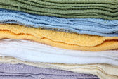 Wash Cloth Stack — Stock Photo