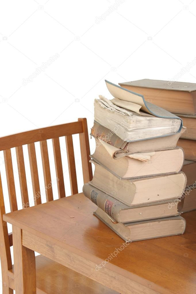 Stack of old law books on table — Stock Photo #12784947
