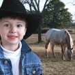 Adorable Four Year Old Cowboy — Stockfoto #12799112