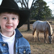 Adorable Four Year Old Cowboy — Stockfoto