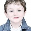 Boy Illustration In Denim Jacket - Lizenzfreies Foto
