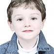 Boy Illustration In Denim Jacket - Foto Stock
