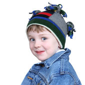 Adorable Boy in Winter Hat — Stok fotoğraf