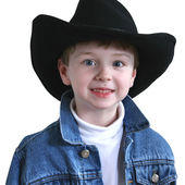 Adorable Four Year Old Cowboy Hat — Zdjęcie stockowe